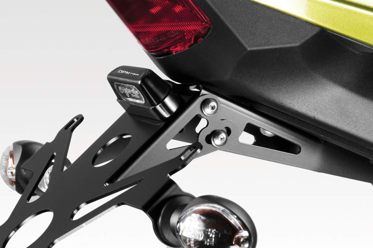 - 100/% Made in Italy Accessori De Pretto Moto R-0650 Kit Targa Luce LED e Minuteria Inclusi DPM - Portatarga Inclinazione Regolabile CB1000R 2009//16