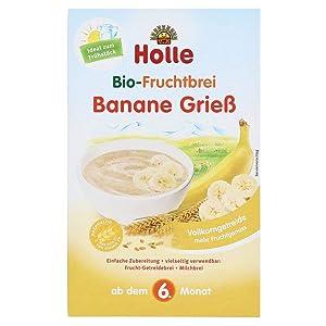 Holle Bio Semolina And Banana Porridge 6m + 250g