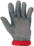 UltraSource 441030-L Stainless Steel Mesh Glove, Wrist Length Cuff with Sewn in Strap, Size Large, Each