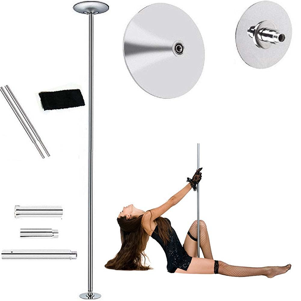 45mm Fitness Exercise Spinning Static Dance Pole Stripper Strip Portable 440lbs by Yosoo