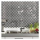 Peel and Stick Kitchen Backsplash Wall Tile Hexagon Design, 6 Sheets