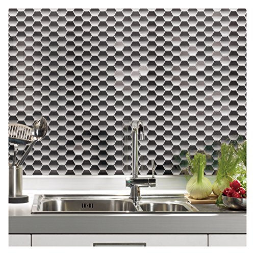 "Kitchen Floor Tiles Design Malaysia: With MK Art3d 12"" X 12"" Peel And Stick Tile Kitchen"
