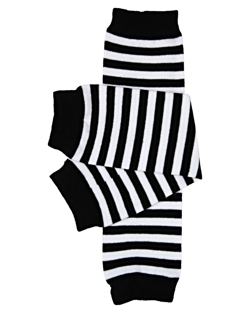 juDanzy black & white stripe baby and toddler boy and girl leg warmers