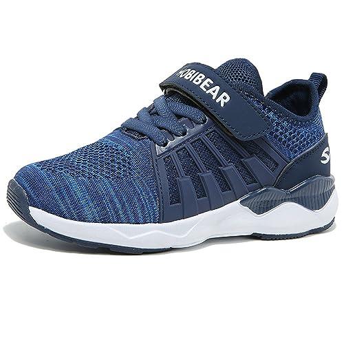2573ed26501ca Unisex-Niños Zapatillas De Correr para Chico Zapatos De Deporte Niño y Niña  Calzado Infantil Transpirable