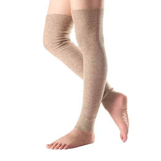 40e6662a3 Image Unavailable. Image not available for. Color  BAOBAO Long Footless  Socks Soft Cashmere Knee ...