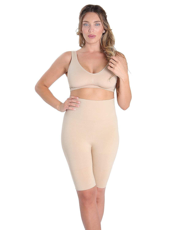 c77bdbc38 SlimMe Patrona High Waist Thigh Shaper - Shapewear at Amazon Women s  Clothing store