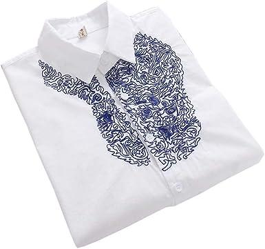 Camisas Blancas Simples Blusa Bordada Mujeres Tops Blusas de Manga Larga, 09: Amazon.es: Ropa y accesorios