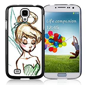 Disney Tinkerbell Black Samsung Galaxy S4 I9500 Screen Phone Case Cool and Hot Sale Design