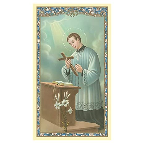 Amazon Com St Aloysius Gonzaga Holy Card 100 Pk Prayer