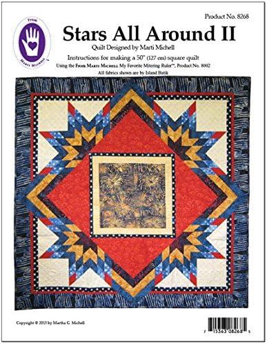 Marti Michell Quilt Pattern 50 Square Stars All Around 2