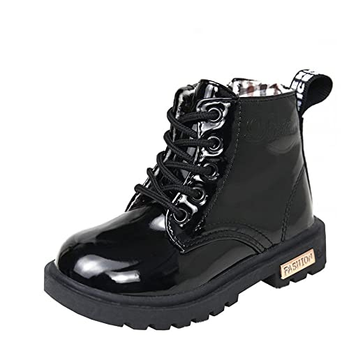 af623c0946bc MK MATT KEELY Girls Boys Martin Boots Ankle Fashion Black Boots Princess  Party Shoes High Top