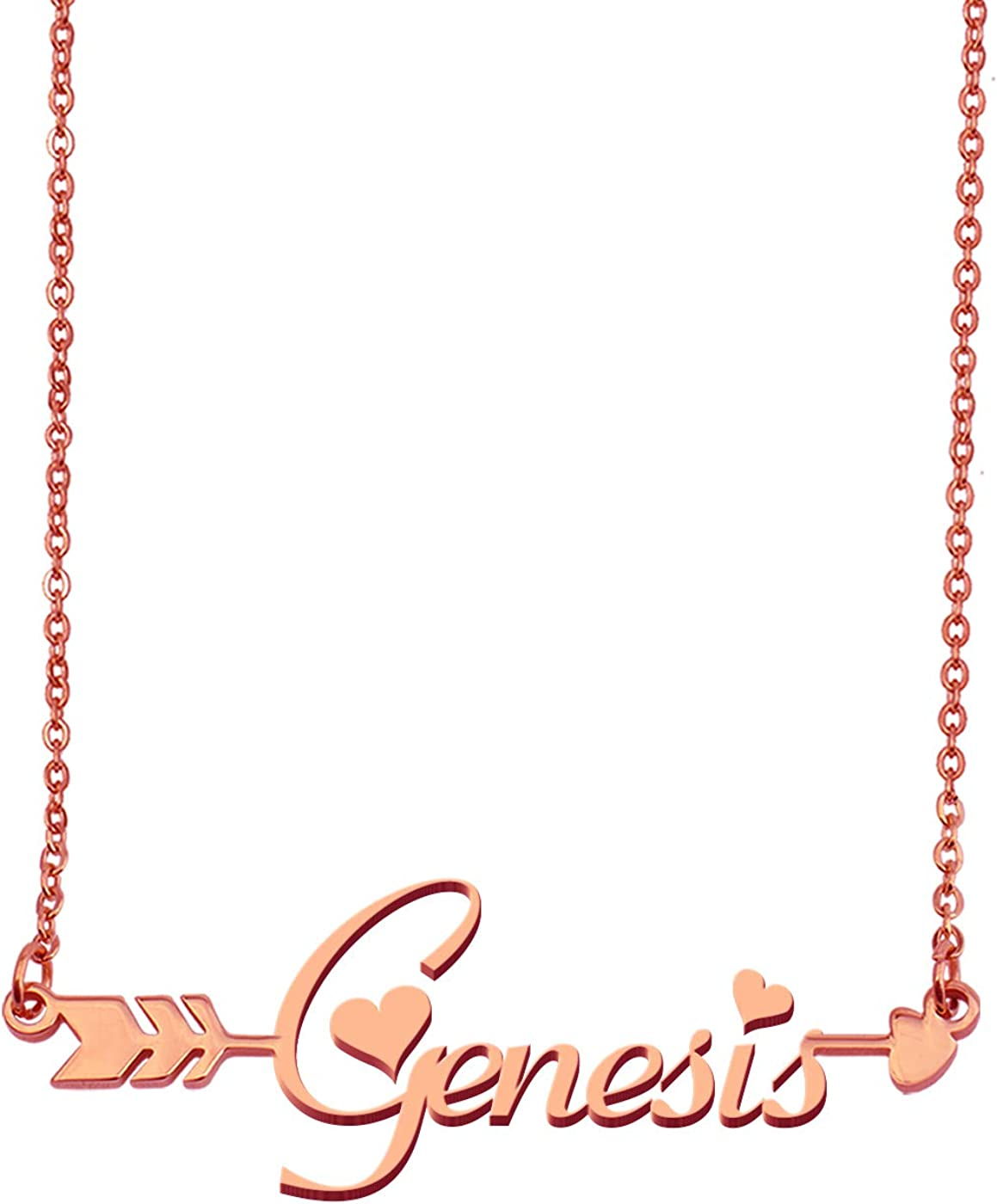 Aoloshow Customized Custom Name Necklace Personalized - Custom Any Initial Plated Handwriting Nameplate Necklace Gift for Womens Girls