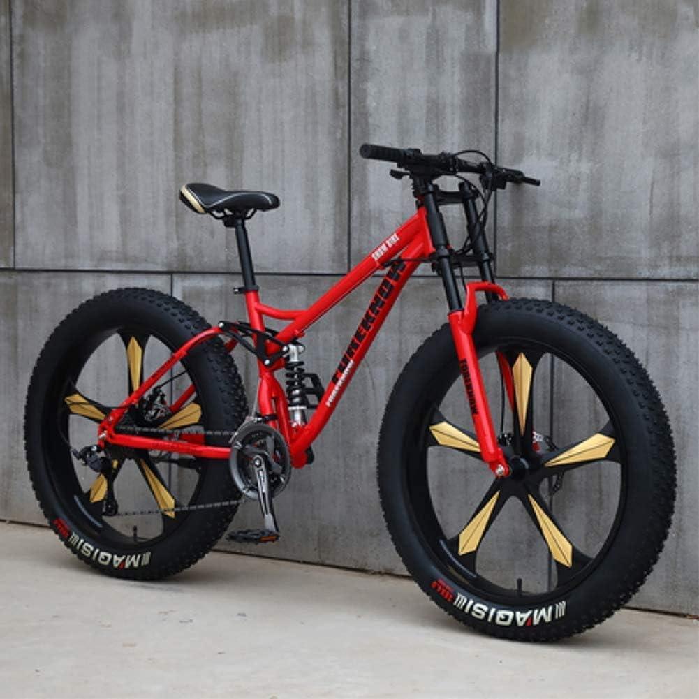 CDFC Fat Tire BTT Bicicleta de montaña de 26 Pulgadas con Frenos ...