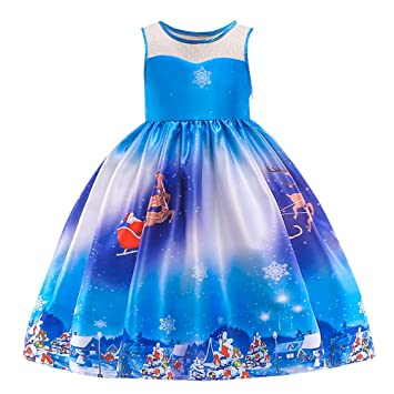 FOANA Christmas Girls Princess Wedding Dress Pageant Prom Gown Strapless Shoulder Outfits