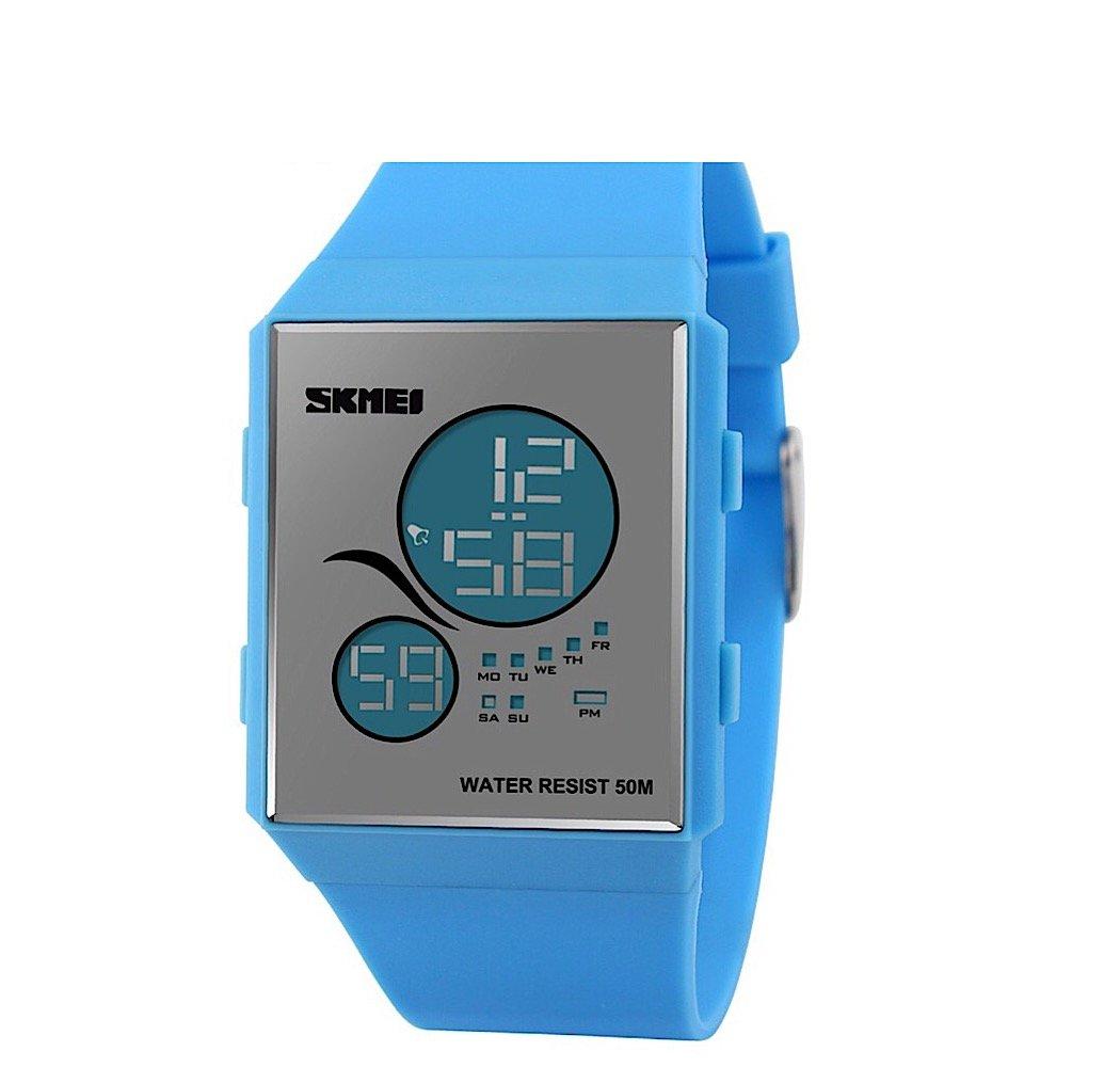 Amazon.com: Women Watch, [Unisex] Women Waterproof Digital Sport Watch, Casual Reloj Mujer Led Display Ladies Watch (Blue): Cell Phones & Accessories