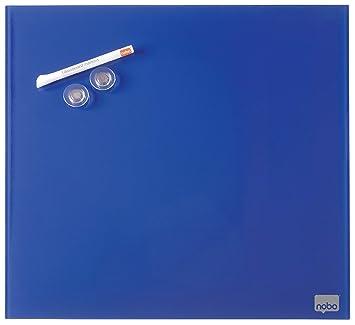 Nobo Diamond Pizarra de cristal, Magnética, 450x450m, Azul, 1903953