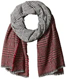 Orchid Row Women's Ombre Grid Wool Effect Cold Weather Scarf Red O/S