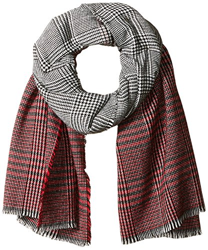 Orchid Row Women's Ombre Grid Wool Effect Cold Weather Scarf
