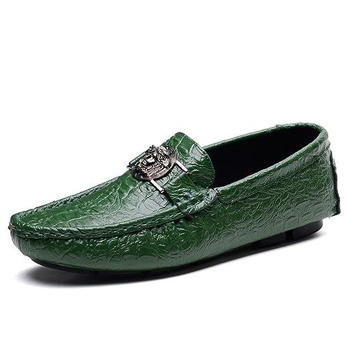 SHELAIDON Casual Mocasines Planos Zapatos para Hombre de Cuero, Loafers Men Shoes: Amazon.es: Zapatos y complementos