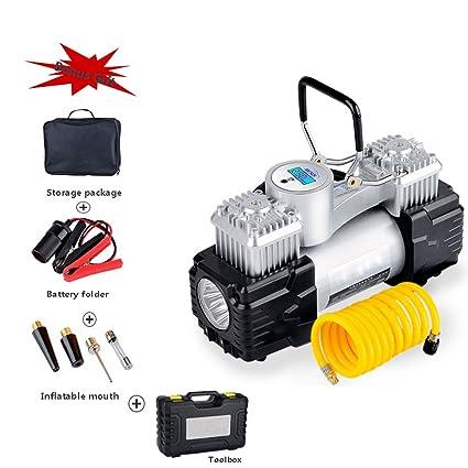 Compresor, Inflador De Neumáticos, Compresor De Aire Digital Con Luz LED, Bomba De