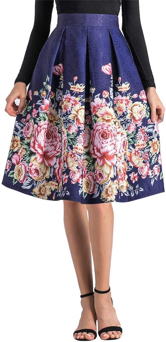 Amazon.com: Suma-ma - Faldas de cintura media para mujer ...