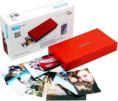 Serenelife PICKIT21RD - Impresora de Fotos Portátil Instantánea Wireless Color Imagen Impresión para iPad o Android Funda para Cámara de Smartphone (Rojo): Amazon.es: Electrónica