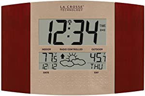 La Crosse Technology WS-8157U-CH-IT Atomic Clock with Outdoor Temperature and Weather Forecast