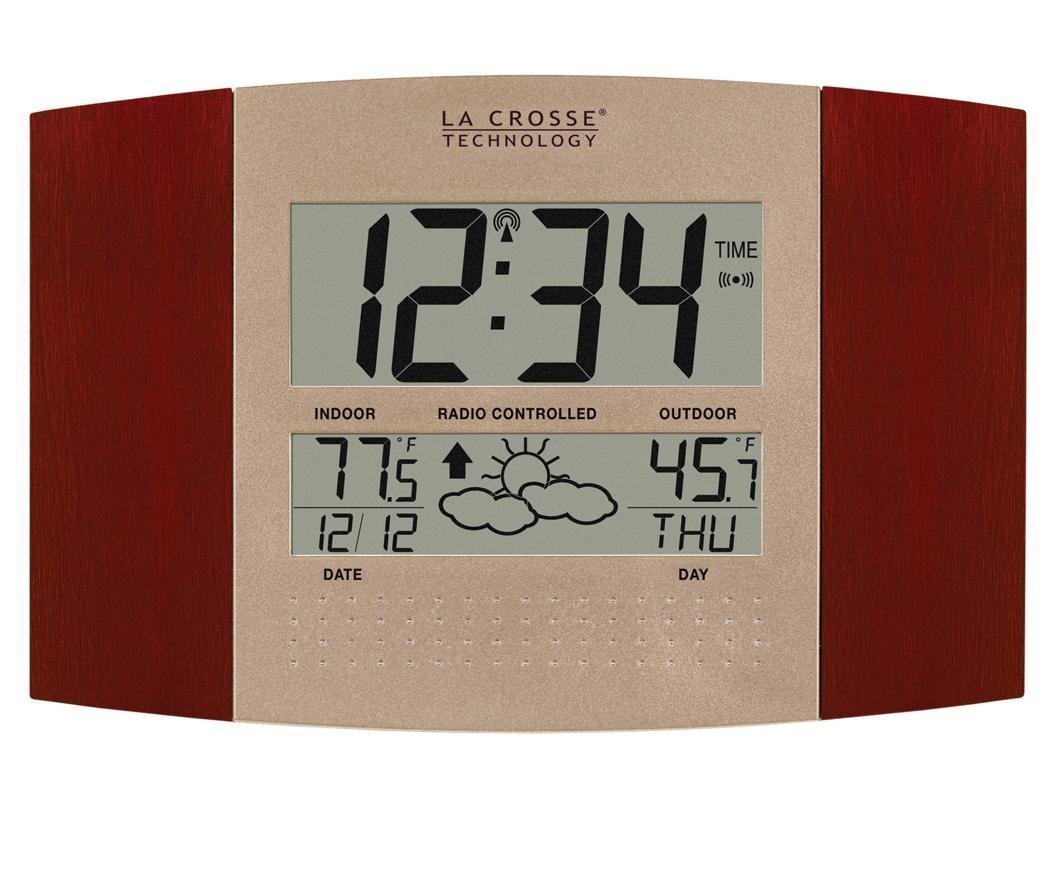 La Crosse Technology WS-8157U-CH-IT Atomic Clock with Outdoor Temperature and Weather Forecast by La Crosse Technology