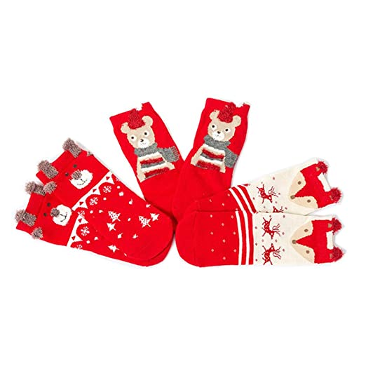 hongxin winter baby christmas socks anti slip children toddler cotton blend socks for 0 2y