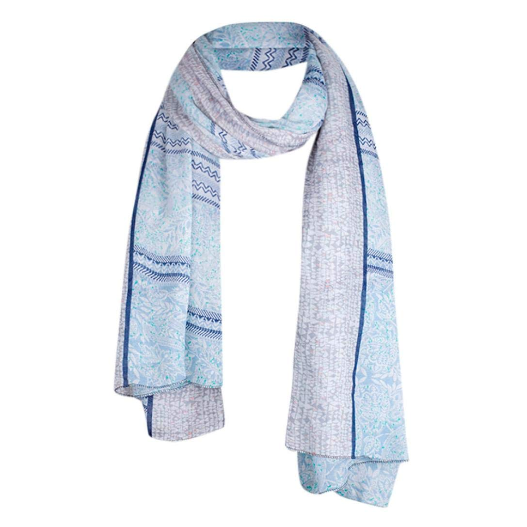 Pocciol Scarves, Women Scarf Fashion Retro Female Multi-Purpose Soft Shawl Cover up 1