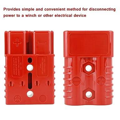 Schnellkupplungsstecker 2 Stück Batterie Schnellkupplungsstecker Mit Stecker 175a 600v Rot Elektrokabel Schnellkupplung Mit 4 Zubehörteilen Gewerbe Industrie Wissenschaft