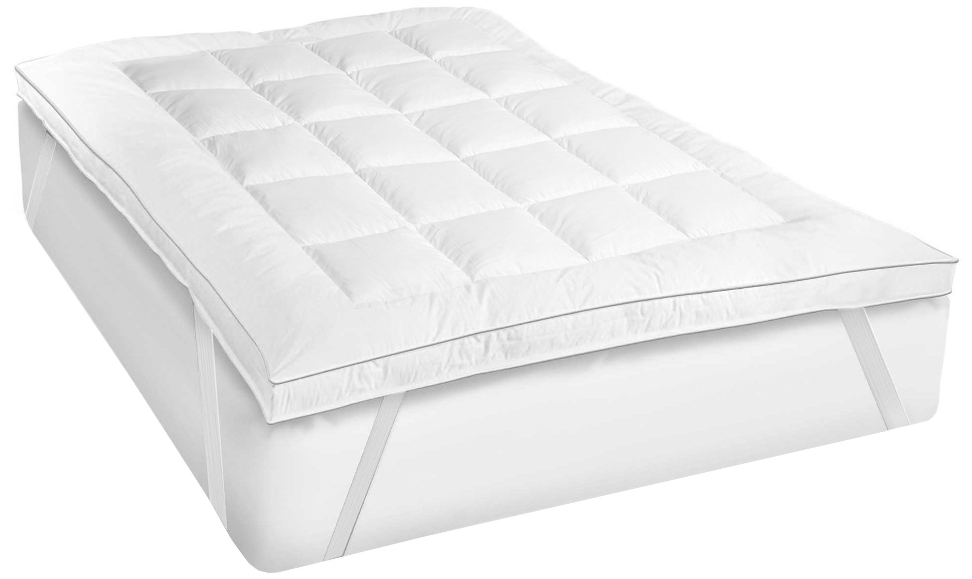 Sweet Home Collection Fiber-MAT-Topper-T Soft and Luxurious Fiber Bed Mattress Pad, Twin