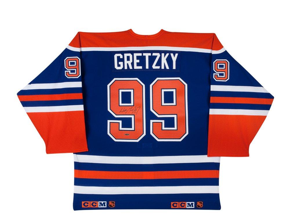 Wayne Gretzky Autographed Edmonton Oilers CCM Authentic Blue Jersey at  Amazon s Sports Collectibles Store c07afa8a0
