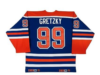 new concept 64713 6876b Wayne Gretzky Signed Blue Authentic Edmonton Oilers Jersey ...