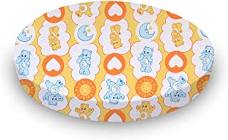 product image for SheetWorld Fitted 100% Cotton Percale Oval Crib Sheet, Fits Stokke Sleepi 26 x 47, Care Bears Yellow, Made in USA