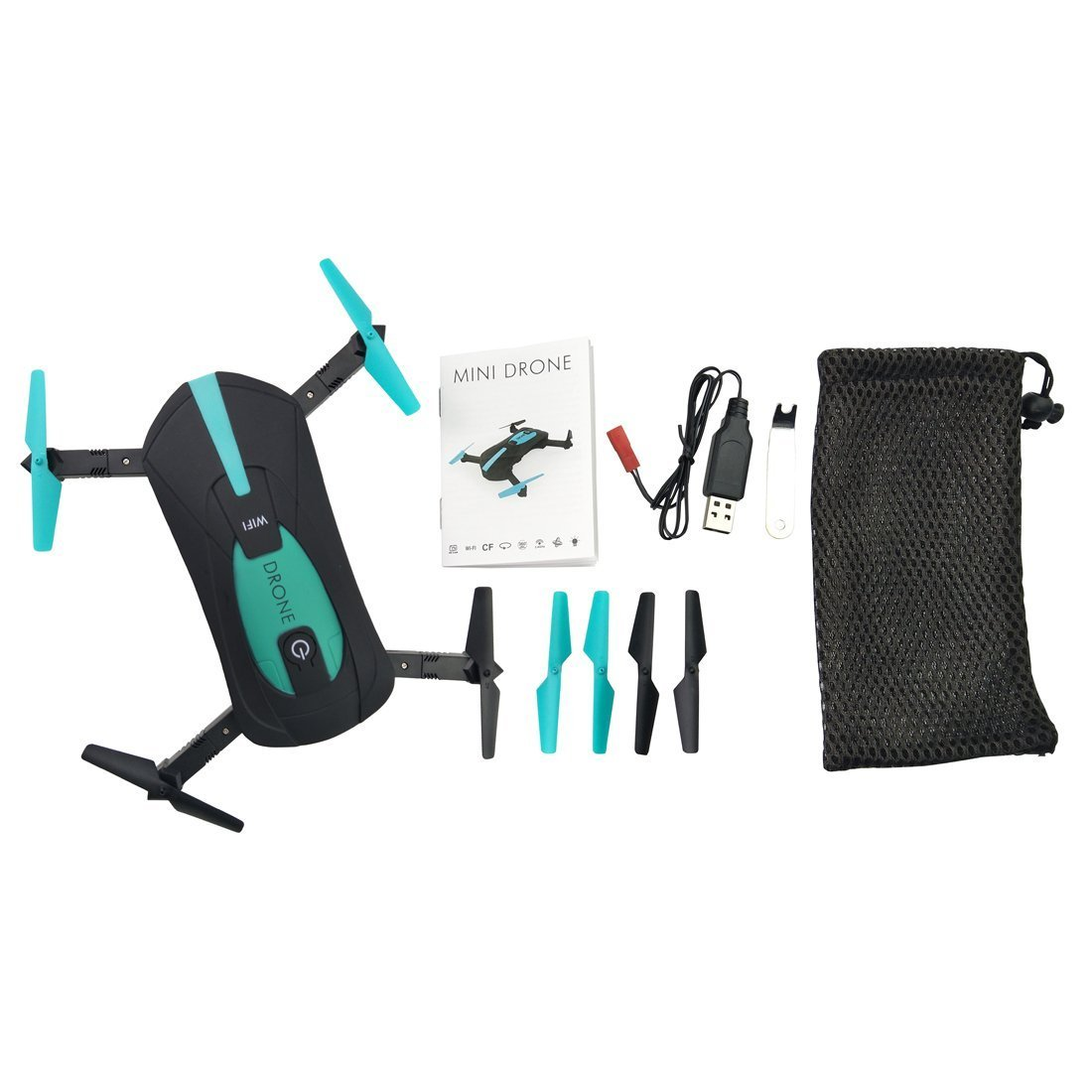 NiGHT LiONS TECH Upgraded version JY018 WIFI Quadcopter With Camera  Foldable Arm Altitude Hold RC Mini Quadcopter Selfie Pocket Drone RTF  (Green)