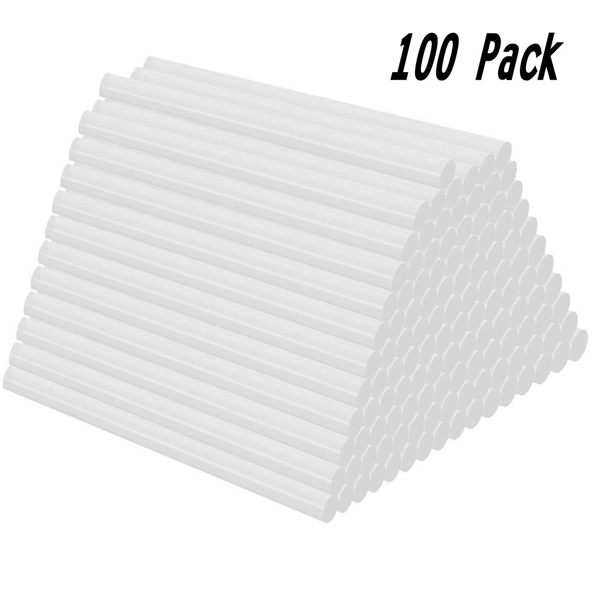Joykey 100 Pcs bâtons de colle Bâtons de pistolet à colle thermofusible 7x100 mm bâtons de colle de rechange, transparent