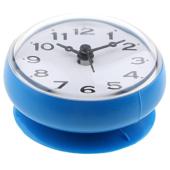 KESOTO Reloj de Baño Impermeable con Ventosa - Reloj de Ducha para Colgar Fácilmente - Azul, 75x35 mm: Amazon.es: Hogar