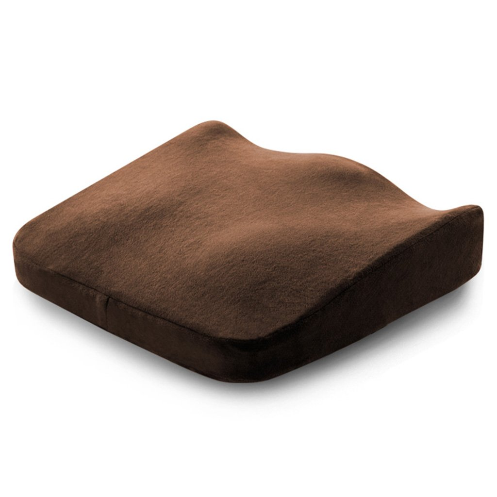Cushion for Office Beautiful Bottom Cushion for Pregnant Women Driver's License adds seat Chair Stool pad/Sedentary PP Painless mat Furniture Accessories (Color : Brown, Size : 40406.5cm)
