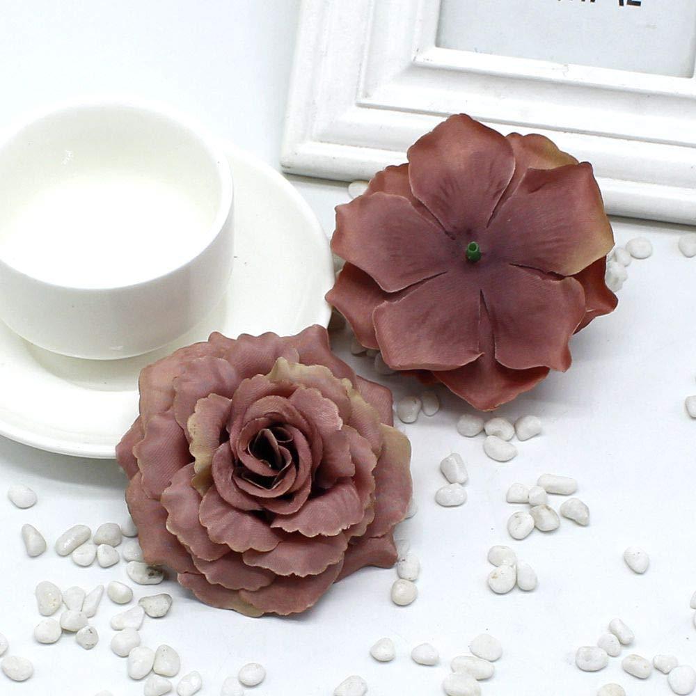 PPL21 シルク製人工シルククロス 1ピース (8cm / a) 造花/結婚式のブローチ ローズハット リースDIYコラージュ ギフトアイテム B07H4LGG7R 10