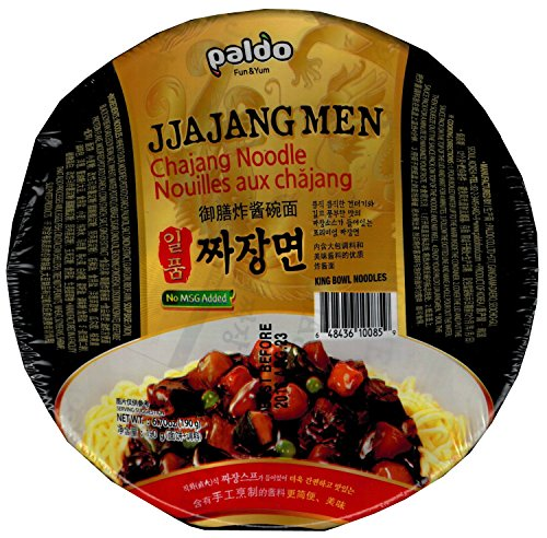 Paldo Jjajangmen Chajang Noodle Vegan No MSG [2 Big Cups]