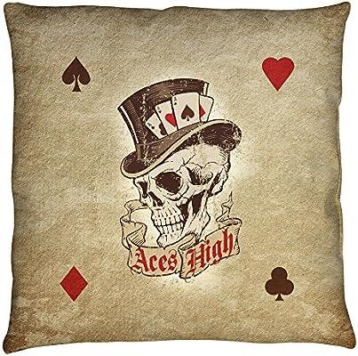 Aces High Tattoo Art diseño juego de cartas arte manta almohada ...