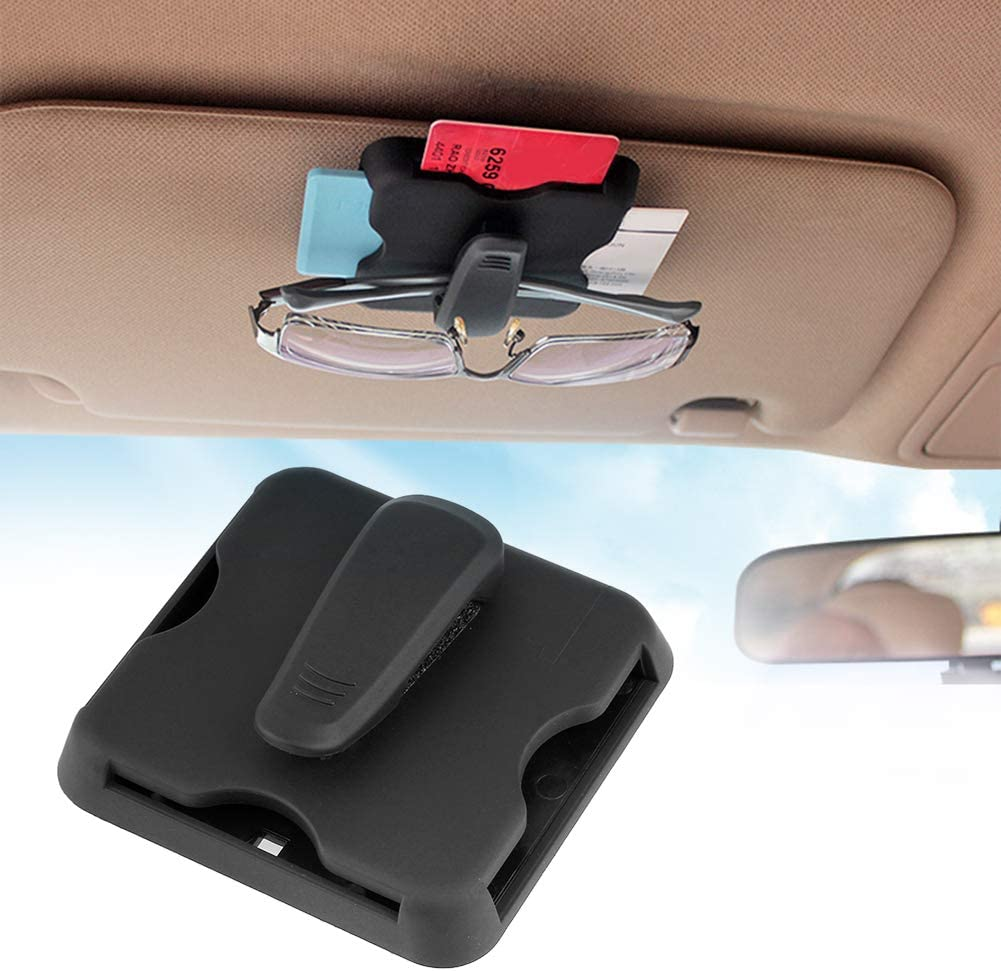 Ahomi Multi-function Car Sun Visor Sunshade Card Organizer Holder Clip Gift Black