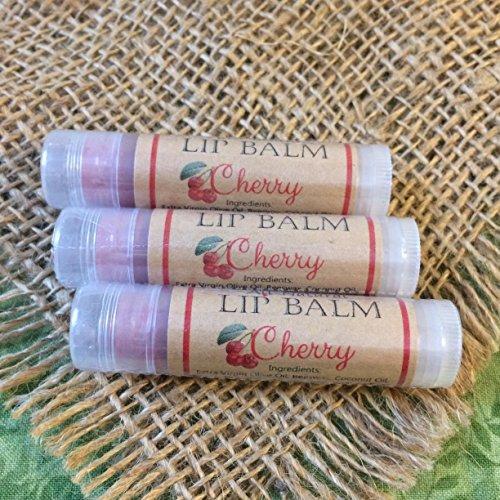 Bee Joyful Lip Balm - CHERRY (3 Pack) All-Natural