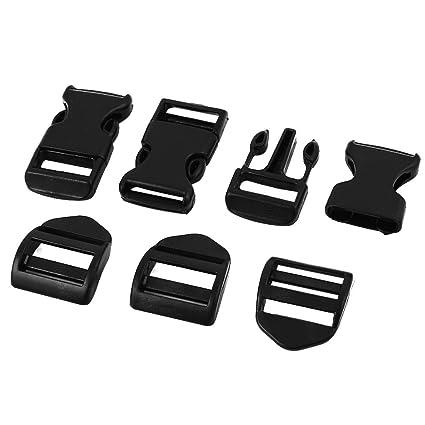 Sourcingmap – ® plástico duro equipaje Mochila Band hebilla de liberación rápida Clip 3 piezas