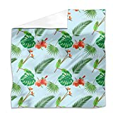 Tropical Plants Flat Sheet: King Luxury Microfiber, Soft, Breathable