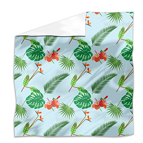 Tropical Plants Flat Sheet: King Luxury Microfiber, Soft, Breathable by uneekee