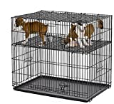 MidWest Puppy Playpen with 1 Inch Mesh Floor Grid, 24''L (model 224-10)
