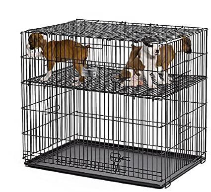 Midwest Homes Puppy Playpen Crate - 224-10 Grid & Pan Included