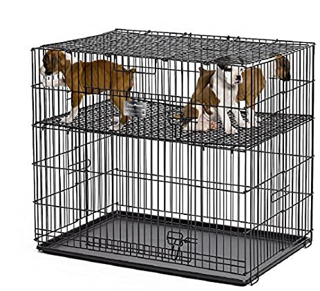 MidWest Puppy Playpen With 1 Inch Mesh Floor Grid, 24u0026quot;L (model 224